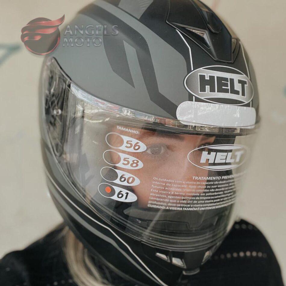 Capacete Helt New Race Matt/Blk
