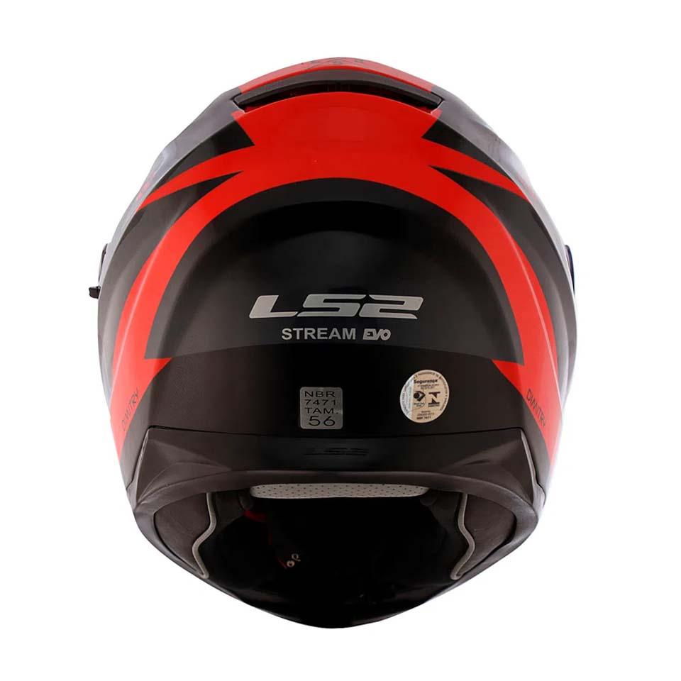 Capacete LS2 FF320 Stream Dimitry Red/Grey/Blk