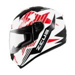 Capacete Zeus 811AL28 Solid White/Blk
