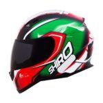 Capacete Shiro SH881 Motegi Verde/Vermelho
