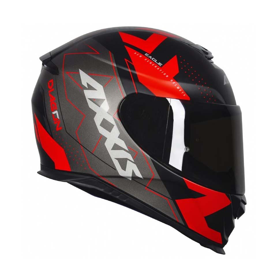 Capacete Axxis Eagle Diagon Matt/Blk/Grey/Red