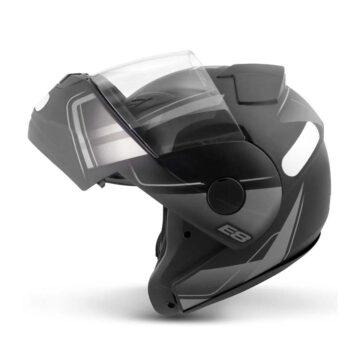 Capacete EBF New E8 Drift Preto Fosco/Prata
