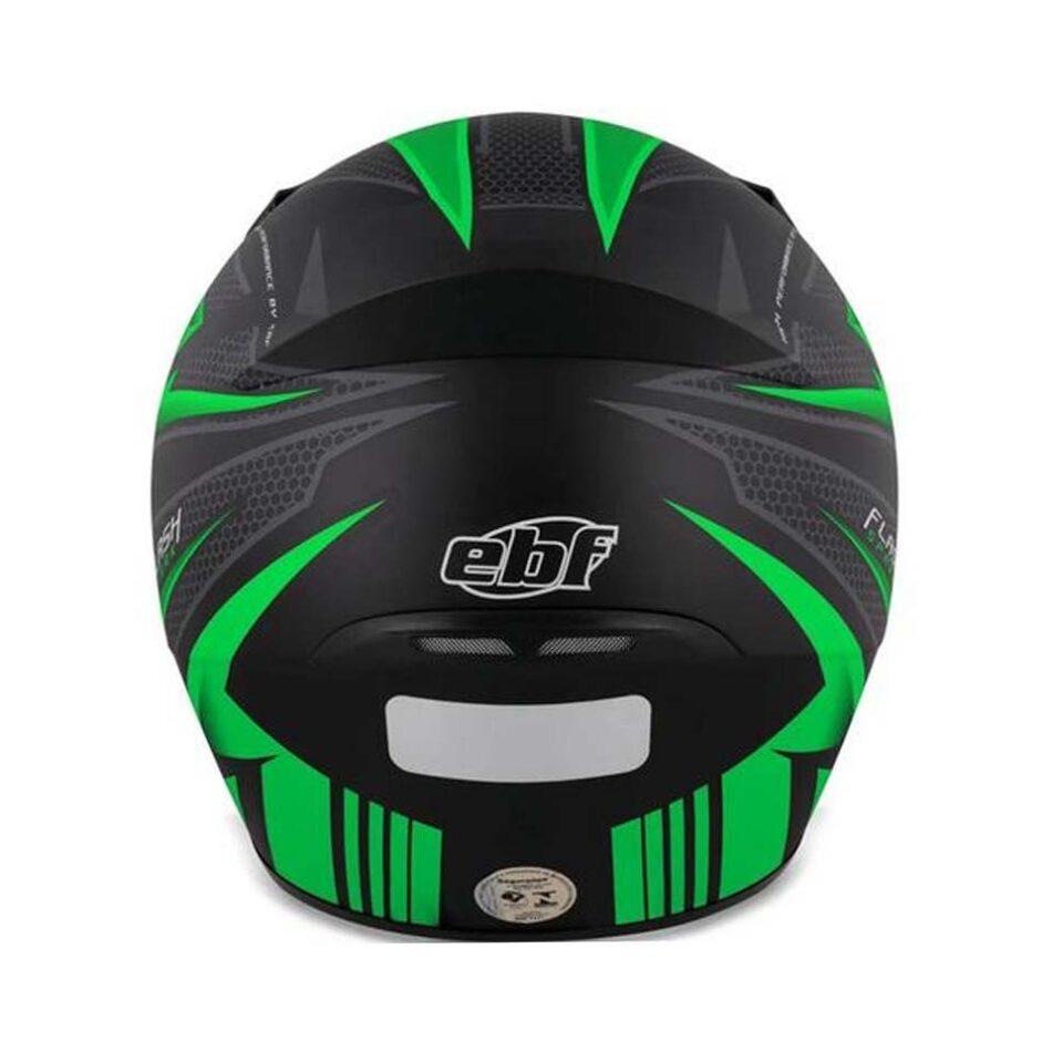 Capacete Ebf New Spark Flash Preto Fosco/Verde