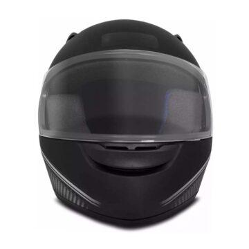 Capacete EBF Spark Black Edition Preto Fosco/Prata
