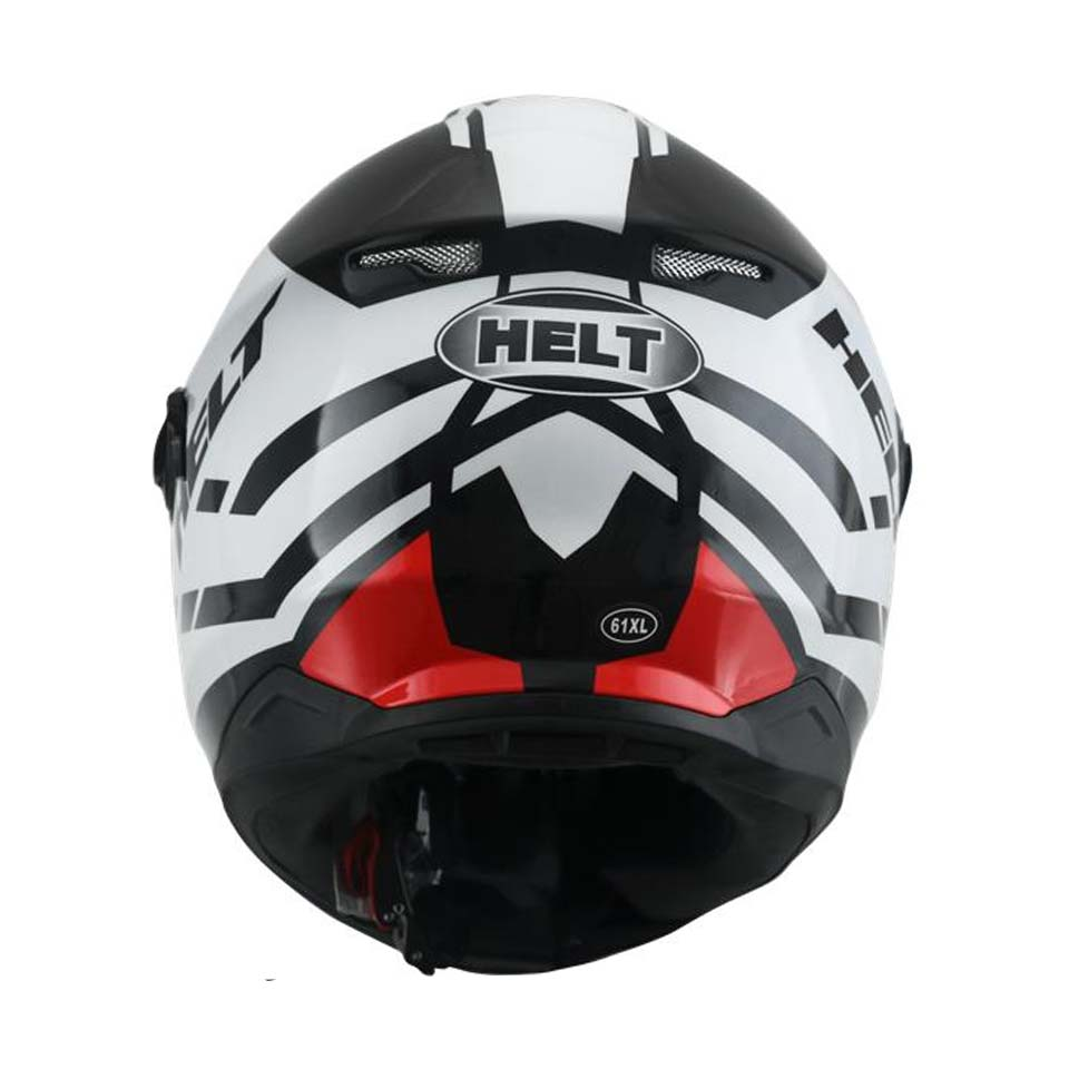 Capacete Helt New Glass All Star Wht/Red