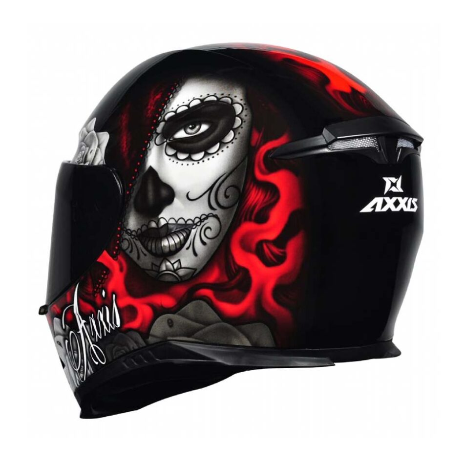 Capacete Axxis Eagle Lady Catrina Blk/Red