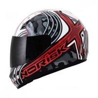 Capacete Norisk FF391 Cyborg Wht/Red