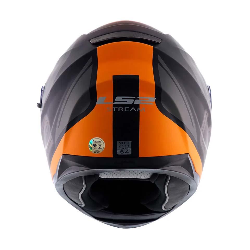 Capacete LS2 FF320 Stream Orbital Matt/Blk/Grey/Orange