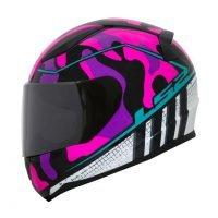 Capacete LS2 FF353 Rapid Bravado Pink/Camo