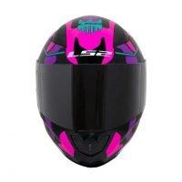 Capacete LS2 FF353 Rapid Bravado Pink/Camo 2