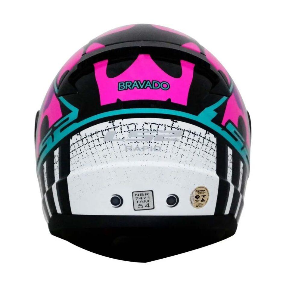 Capacete LS2 FF353 Rapid Bravado Pink Camo