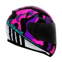 Capacete LS2 FF353 Rapid Bravado Pink/Camo 5