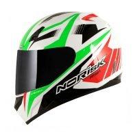 Capacete Norisk FF391 Slide Wht/Green/Red