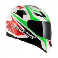 Capacete Norisk FF391 Slide Wht/Green/Red 4