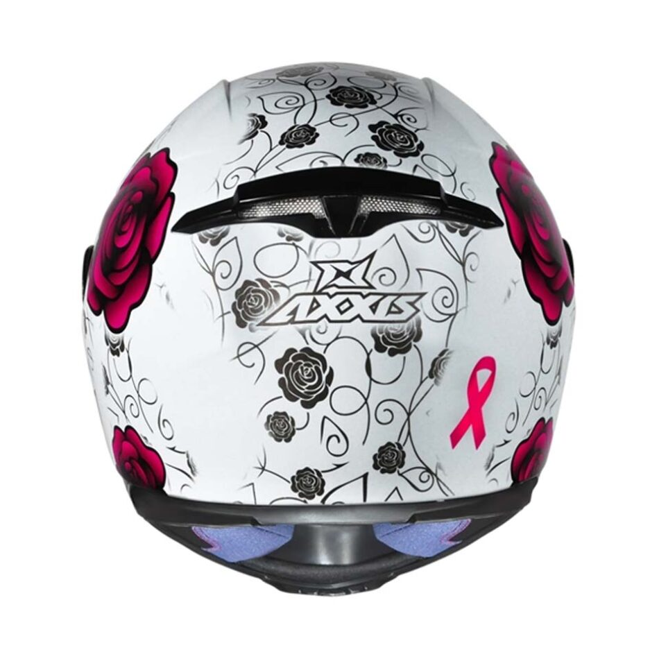 Capacete Axxis Eagle Flowers Wht/Pink