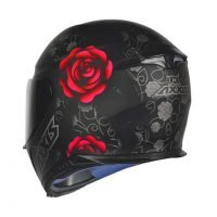 Capacete Axxis Eagle Flowers Matt/Blk/Red 2