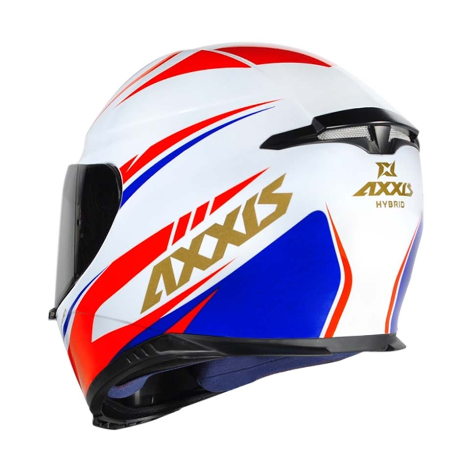 Capacete Axxis Eagle Hybrid Gloss White/Blue/Red