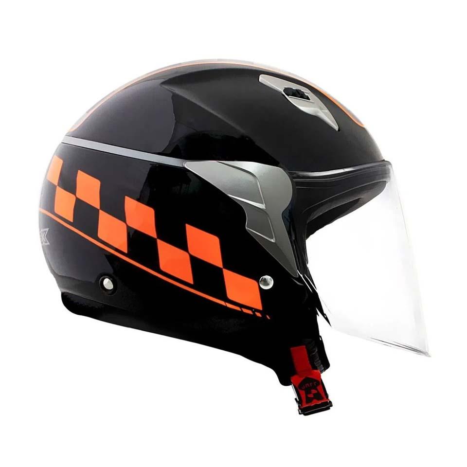 Capacete Norisk Jet College Black Orange