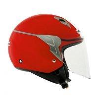 Capacete Norisk Jet Linea Wht/Red 2