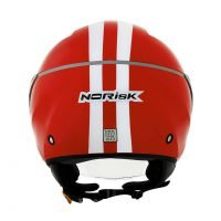 Capacete Norisk Jet Linea Wht/Red 3
