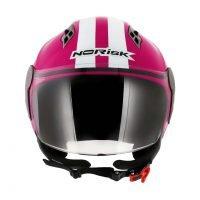 Capacete Norisk Jet Linea Wht/Pink 2