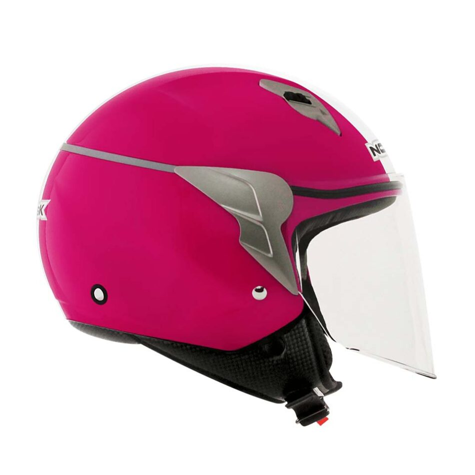 Capacete Norisk Jet Linea White Pink