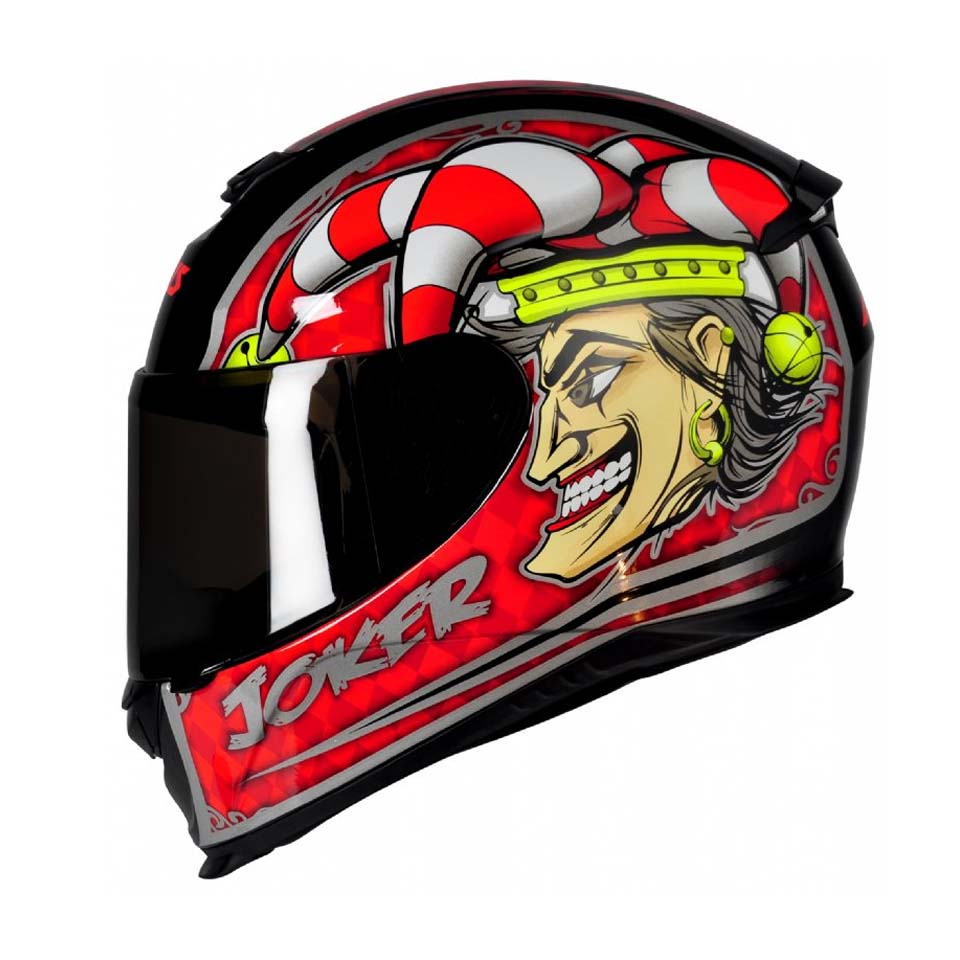 Capacete Axxis Eagle Joker Blk/Red