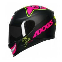 Capacete Axxis Eagle Mg16 Celebrity Edtion Marianny Blk/Pink