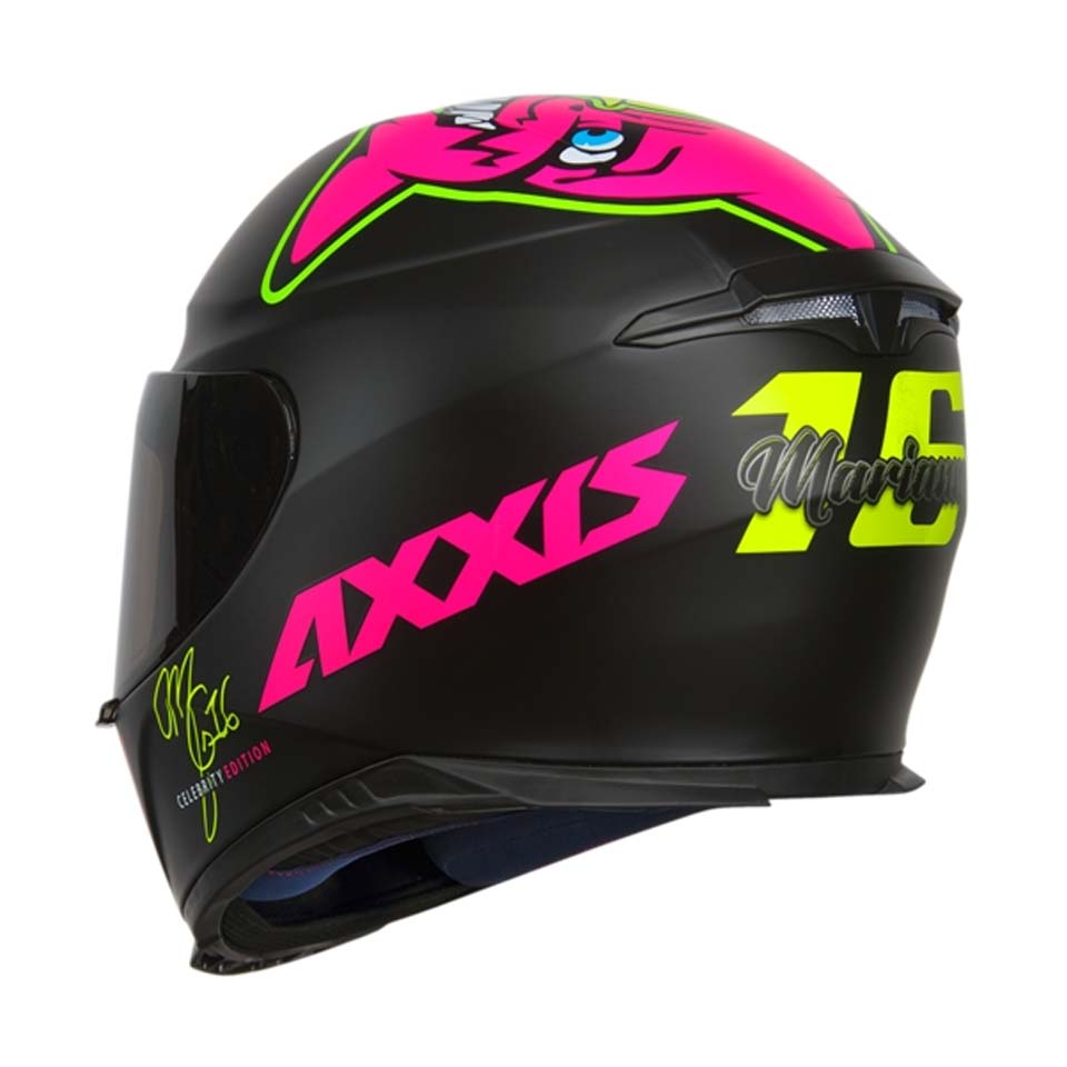 Capacete Axxis Eagle Marianny Matt Black/Pink