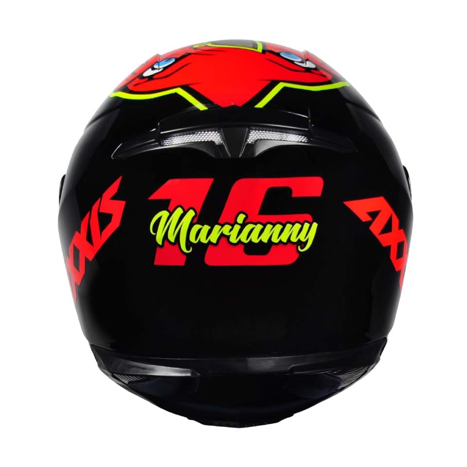 Capacete Axxis Eagle Marianny Gloss Black/Red