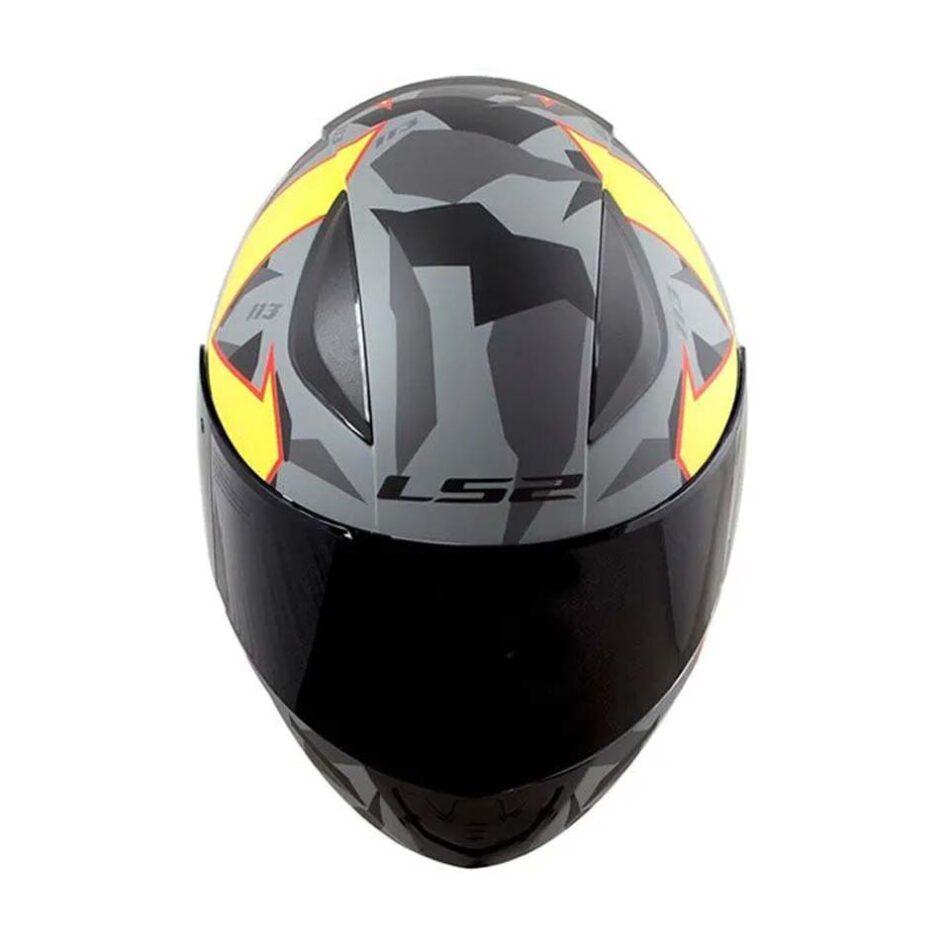 Capacete LS2 FF353 Rapid Pascoalin Matt Grey Yellow