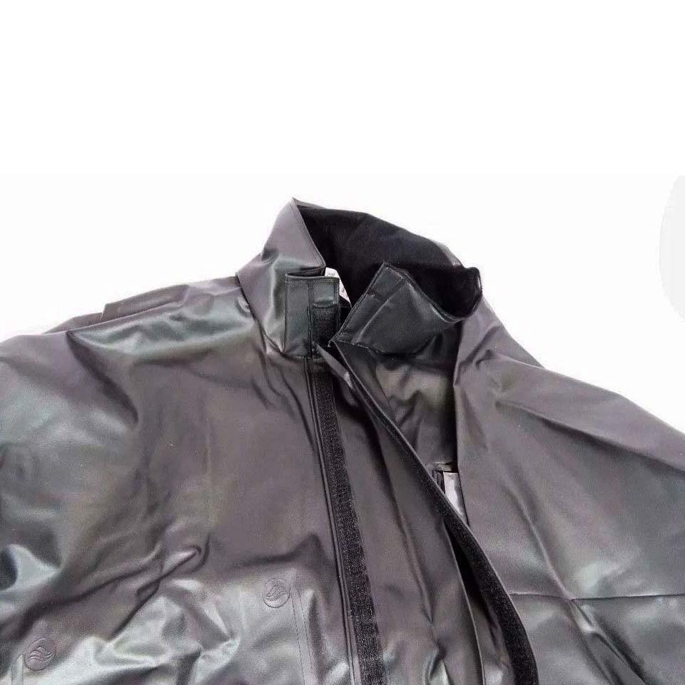 Conjunto Chuva Alba PVC Europa Preta Unissex