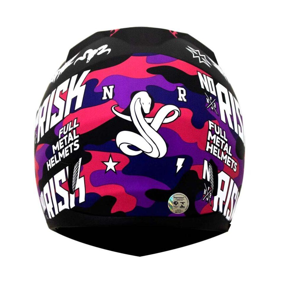 Capacete Norisk FF391 Hard Blk Pink Camo