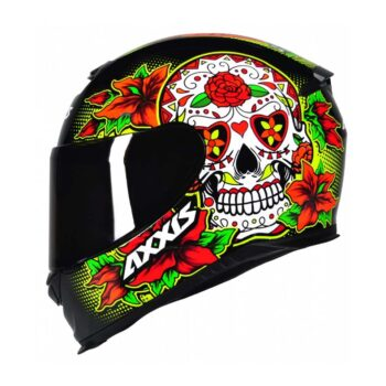 Capacete Axxis Eagle Skull Black/Yellow