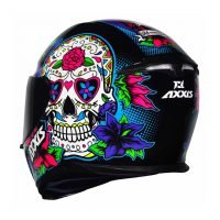 Capacete Axxis Eagle Skull Blk/Blue 2