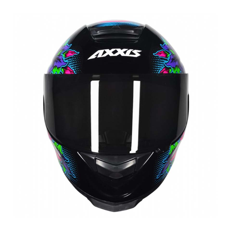 Capacete Axxis Eagle Skull Black/Blue