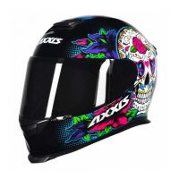 Capacete Axxis Eagle Skull Blk/Blue 4