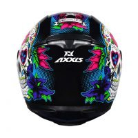 Capacete Axxis Eagle Skull Blk/Blue 5
