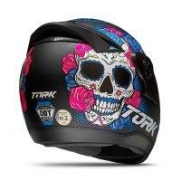 Capacete Tork Evolution G7 Mexican Skull Fosco Preto 4
