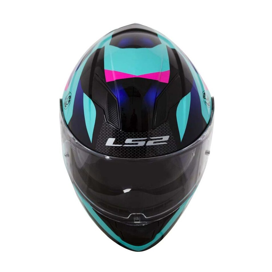 Capacete LS2 FF320 Stream Crown Blue/Blk/Pink