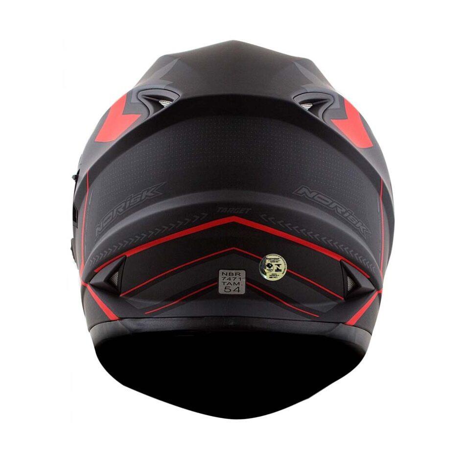 Capacete Norisk FF302 Target Matt/Red/Blk