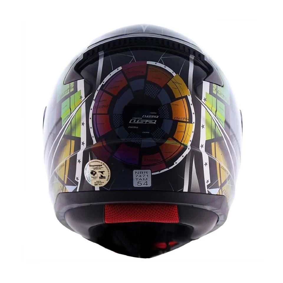 Capacete LS2 FF353 Rapid Tech Black Chamaleon