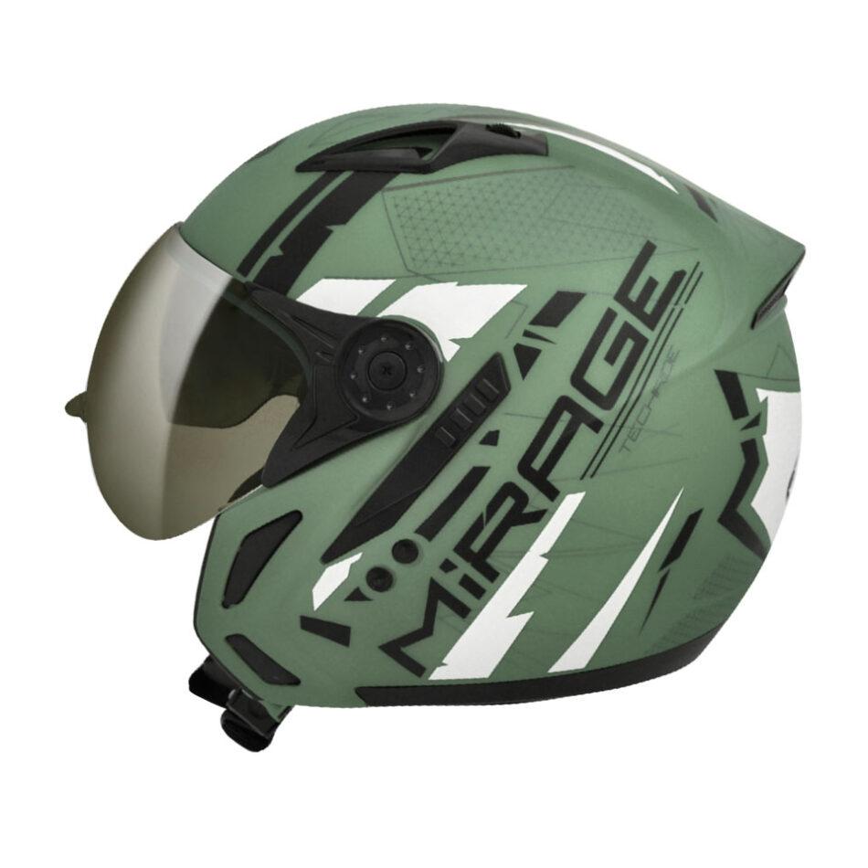 Capacete Peels Mirage Techride Verde Fosco/Preto