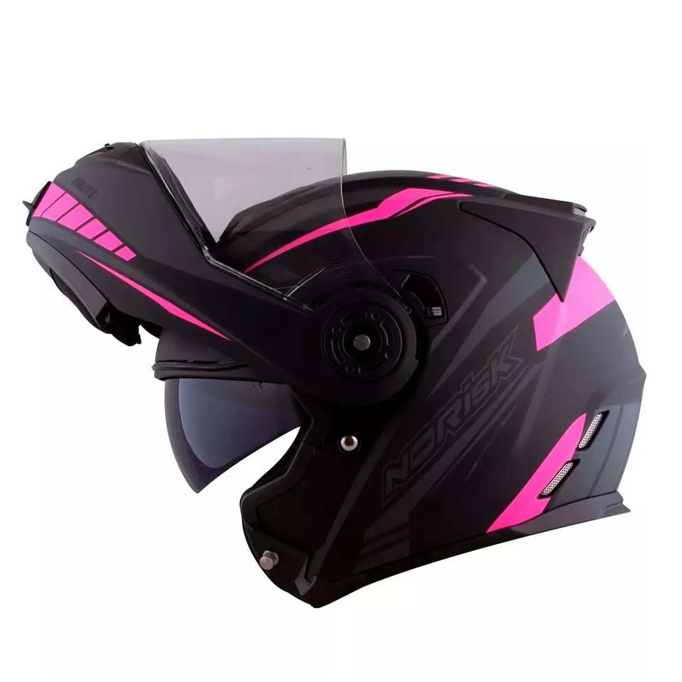 Capacete Norisk FF345 Route Motion Matt/Blk/Pink