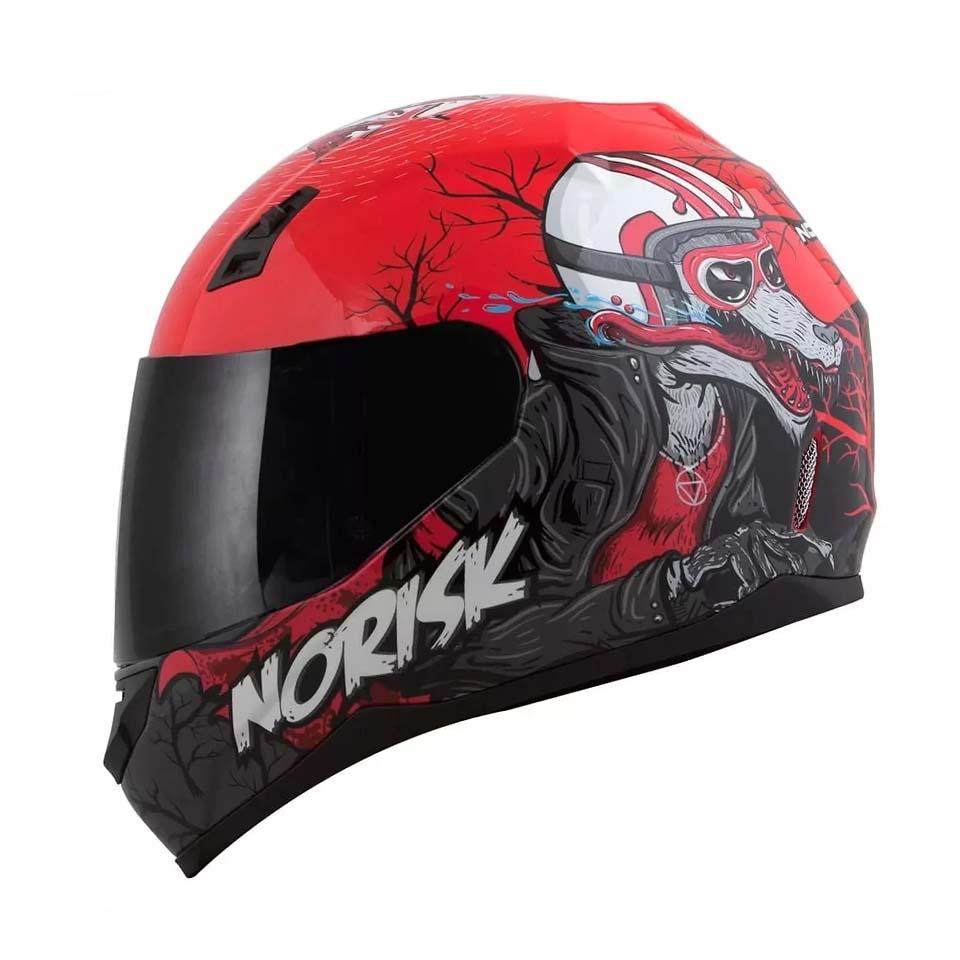 Capacete Norisk FF391 Wolf Vermelho