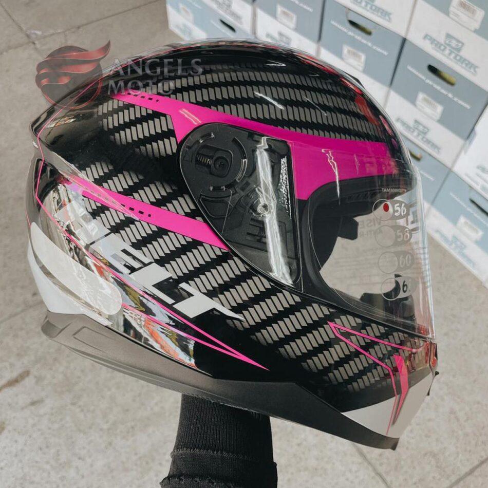 Capacete Helt New Race Charme Pink/Black