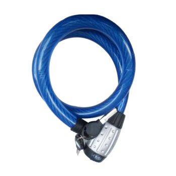 Cadeado Cabo Aço 2.2x100 Azul K&D
