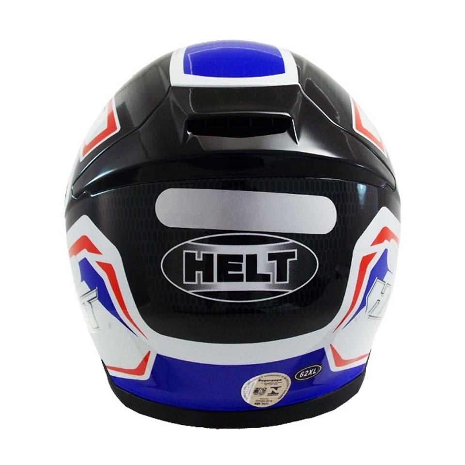 Capacete Helt Hippo Glass Safety Verm/Azul