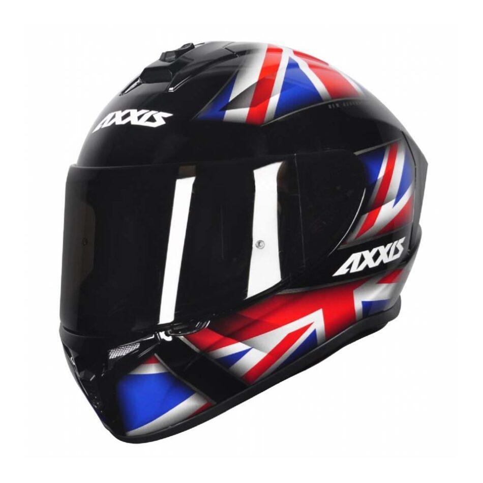Capacete Axxis Draken UK Gloss Black/Red/Blue