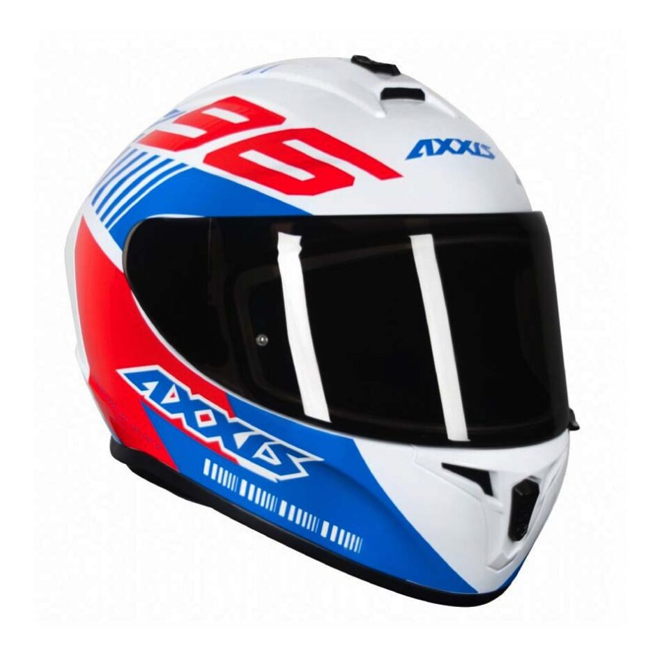 Capacete Axxis Draken Z96 Gloss White/Red/Blue